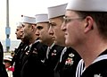 US Navy 061212-N-2716P-011 Sailors assigned to guided-missile destroyer USS Stethem (DDG 63) stand in ranks during Stethem's change of command ceremony.jpg