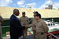 US Navy 070920-N-8704K-114 U.S. Public Health Service Rear Adm. Kenneth Moritsugu, acting U.S. surgeon general, greets Dr. Roy Austin, U.S. ambassador.jpg