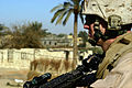 US Navy 071220-M-6159T-013 Lance Cpl. Theodore L. Crose, assigned to K Co., 3rd Battalion, 3rd Marine Regiment, maintains security in Karmah, Iraq.jpg