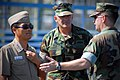 US Navy 081015-N-7367K-001 Capt. Jaelig Park of the Republic of Korea Navy visits with Naval Mobile Construction Battalion (NMCB) 1 during a tour of Naval Construction Battalion Center, Gulfport.jpg