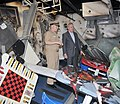 US Navy 090716-N-8848T-456 Secretary of the Navy (SECNAV) the Honorable Ray Mabus, right, tours a bomb damaged berthing compartment aboard the battle stations training simulator USS Trayer (BST 21) while visiting Recruit Traini.jpg
