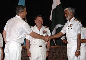 Muhammad Zakaullah - Admiral Zakaullah (right)