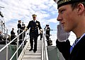 US Navy 100816-N-8273J-107 Chief of Naval Operations (CNO) Adm. Gary Roughead departs HNoMS Otto Svedrup (F 312) during a visit to Haakonsvern Naval Base in Bergen, Norway.jpg