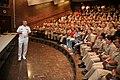 US Navy 100909-N-3271W-074 Vice Adm. Kevin M. McCoy, commander of Naval Sea Systems Command, speaks with University of Utah Navy ROTC midshipmen du.jpg