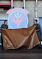 US Navy 110709-N-PM781-030 Capt. Shoshanna Chatfield and Cmdr. Jay Gagne unveil the squadron's new insignia.jpg
