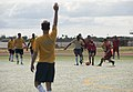 US Navy Sailors and the People's Liberation Army Navy Midshipmen play soccer match 151013-N-WC566-209.jpg