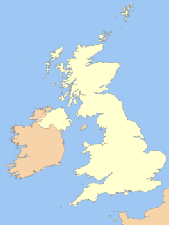 Location of the Malvern Hills in the UK