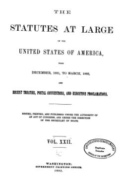 United States Statutes at Large Volume 22.djvu