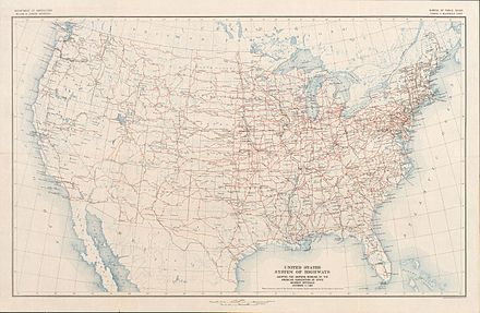United States Numbered Highway System Wikiwand - 1934 us highways map midwest