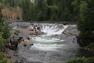 Yaak River - Image: Upper Yaak Falls on the Yaak River