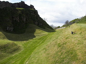 Urquhart Castle ditch.jpg