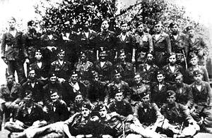 Ustaše Militia - Soldiers of the Ustaše militia from Tomislavgrad.