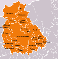 Municipalities of Ústí nad Labem District