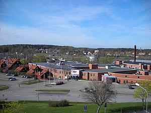 Åtvidaberg - Image: Utsikt över gamla FACIT