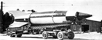 V-weapons - V-2 rocket on Meillerwagen.