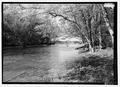 VIEW FROM DOWNRIVER, WEST. - Forsythe Bridge, Spanning Big Flat Rock Creek, CR 650S, Moscow, Rush County, IN HAER IN-106-6.tif