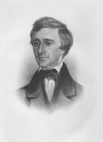 Henry David Thoreau spent a night in jail for not paying poll taxes to support the war and later wrote Civil Disobedience. VII. Rowse.jpg