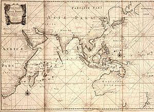 Zeewijk - A 1700 map of the Indian Ocean