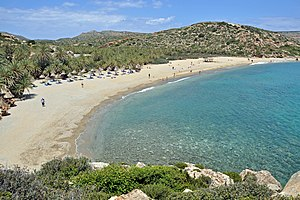 English: The palm beach of Vai (Crete, Greece)...