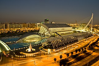 City of Arts and Sciences Cultural complex in the city of Valencia, Spain