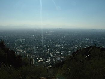 A typical Phoenix afternoon viewed from Camelback Mountain