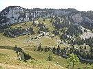 Roches Rousses au-dessus du Vallon de Pratcel