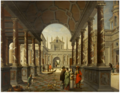 Van Delen and Janssens - Perspective Fantasy of a Palace, with Elegant Figures.tiff