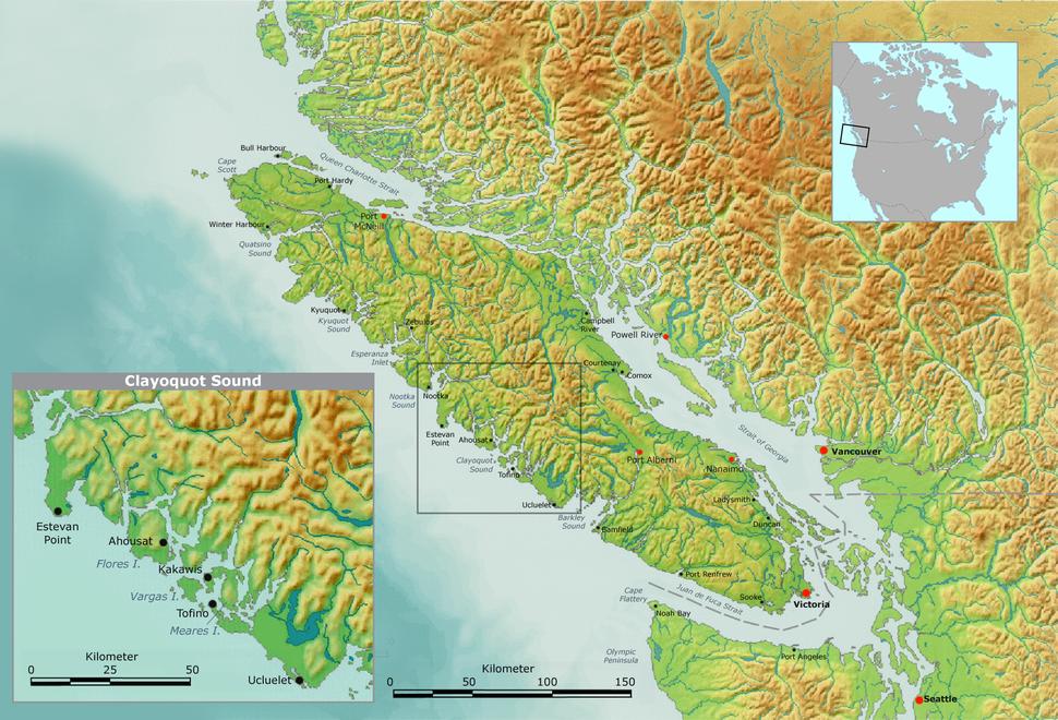 Vancouver clayoquot sound de