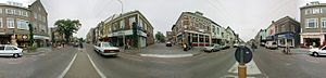 360° Panorama, Main Street, Velp, The Netherlands.