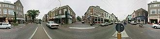 Velp, Gelderland - 360° Panorama, Main Street, Velp, The Netherlands.