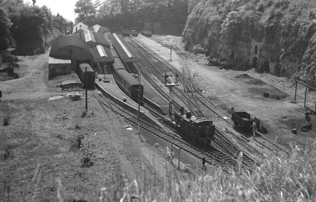 Ventnor railway station in 1963