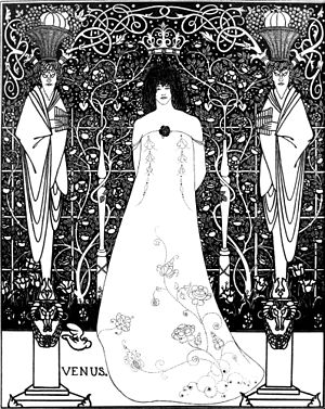 1895 in art - Image: Venus between terminal gods beardsley
