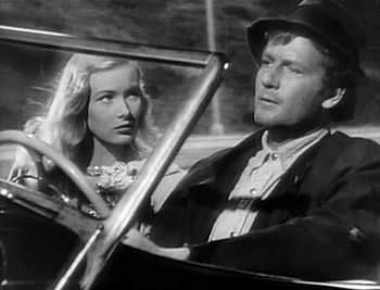 Cropped screenshot of Veronica Lake and Joel M...