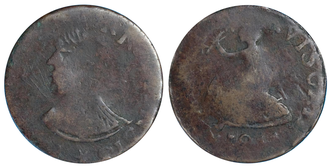 Vexator Canadiensis tokens - An example of a Vextor Canadiensis token; Breton 559, VC-3