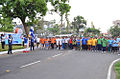 Vice Admiral Bimal Verma flagging off the ENC Olympiad Health Run and Walkathon.JPG