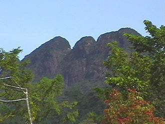 Victoria Peak (Belize) - Victoria Peak view from Hopkins Bay, Stann Creek