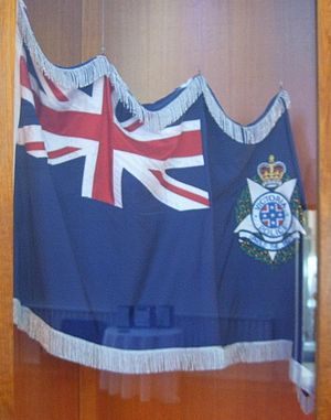Victoria Police - A flag of the Victoria Police, dedicated on 7 February 1997, held at the Chapel of the Victoria Police Academy.