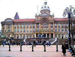 Victoria Square in centraal Birmingham