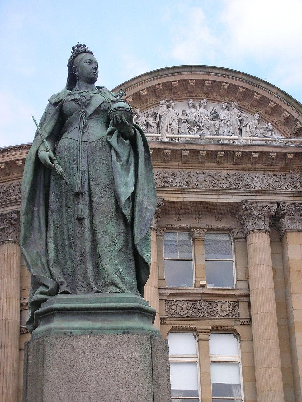 Victoria Statue in Victoria Square Birmingham
