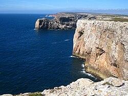 Viev from Cape St. Vincent Sagres Algarve Portugal.JPG