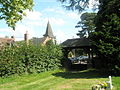 View from the cemetery gate at Ditton Priors over to the parish church - geograph.org.uk - 1447174.jpg