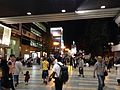View in front of Kyobashi Station at night.JPG