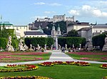 View of Salzburg Fortress from Mirabell Gardens.jpg