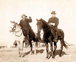 Frank Baldwin - Baldwin (right) with Buffalo Bill in 1891