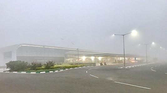 Vijayawada International Airport in fog (January 2019) 4.jpg
