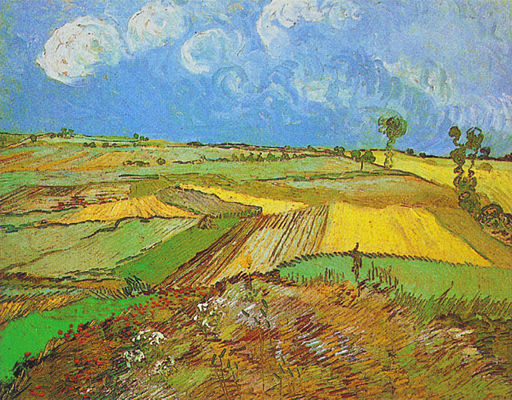 Vincent van Gogh - Wheat Fields after the Rain (1890)