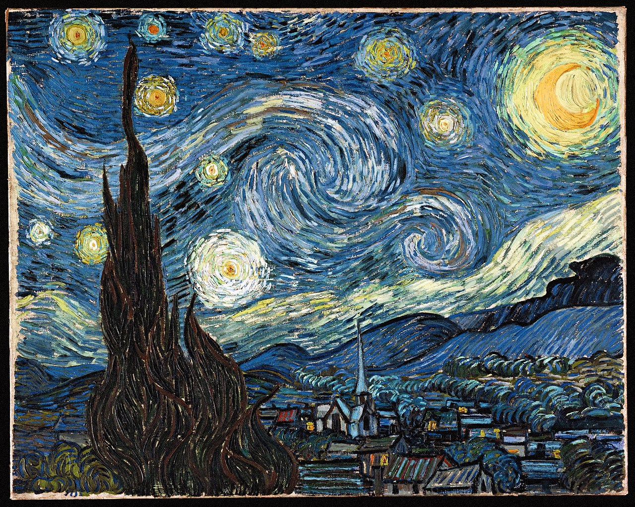 File Vincent Van Gogh Starry Night Jpg Wikipedia