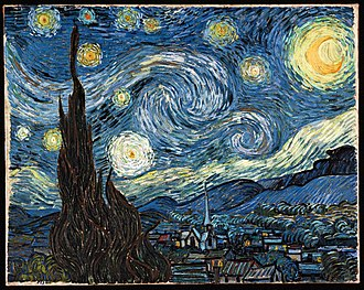 Prussian blue - Vincent van Gogh's Starry Night uses Prussian and Cerulean blue pigments.