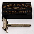 Vintage Morley Single Edge Nickel Plated Safety Razor, The Morley Sales Company, Rochester, NY, Patent Date - July 6, 1909, Likely A Re-branded Burham Razor (27869528348).jpg