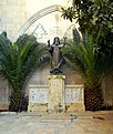 Virgin Mary Greek Catholic Cathedral of Aleppo, statue of Patriarch Maximos Mazloum.jpg